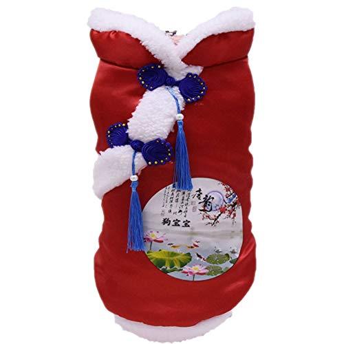 Smilikee Chinesisches Guten Rutsch ins Neue Jahr-klassisches Tang Qipao Kostüm-Feiertags-Festival-Weihnachten kleiden Oben Jacken-Mantel-Feiertags-Partei-Kleid an