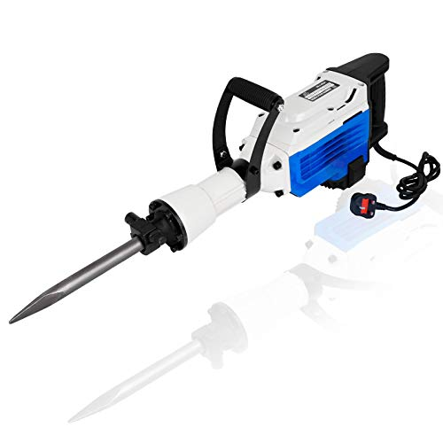 3500W Electric Demolition Hammer Heavy Duty Concrete Breaker 1550 RPM Jack Hammer Demolition Drills with Flat Chisel Bull Point Chisel w/Tool Kit