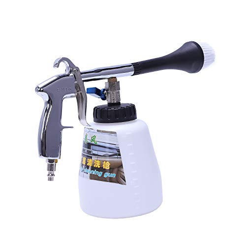 Kaxofang Dispositivo De Pulso De Aire Tornado Pistola Neumatica Pistola De Limpieza Interior del Coche Pistola De Aire Portátil (Interfaz De Estados Unidos) con Cabeza De Cepillo