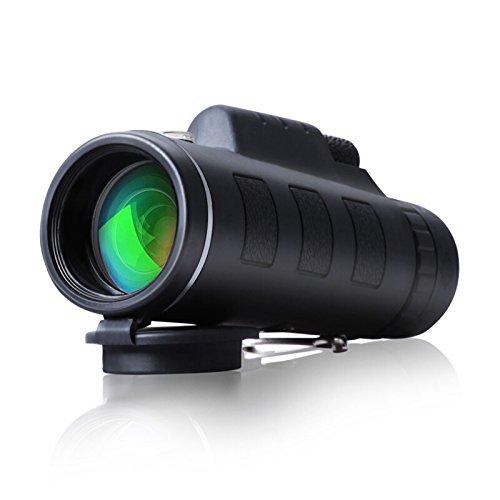 CompraFun Telescopio Monocular 12X40 con Enfoque Dual Zoom Óptico Impermeable Visión Partido Fútbol Pájaros Turismo Caza Senderismo Conciertos Viaje Navegación a Prueba de Nieble Día y Noche