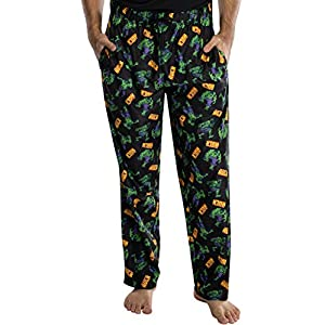 Marvel Mens' The Incredible Hulk All Over Print Lounge Pajama Pants Sleepwear