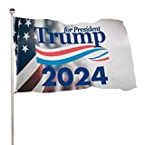 EVISUK Donald Trump for-President 2024 USA Republican Collection Flag 3x5ft Colorfast Uv Resistant 100% Polyester Durable Outdoors Flag