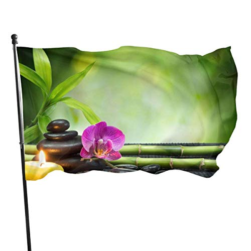 Garten Flagge Patry Flagge Outdoor Flagge Garten Flagge Lustige Tischtennis Outdoor Yard Flagge Wand Rasen Banner Home Flag Dekoration 3 'X 5' , Asiatische Zen Garten Orchidee Kerze Stein Bambus Zen