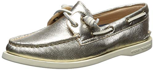 Sperry Women's Authentic Original Vida Boat Shoe, Platinum, 8