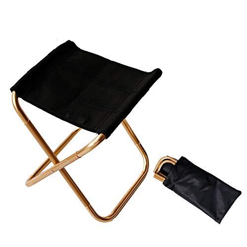 WJQ 2 Klappstühle für draußen, tragbare Picknickstühle, Campingbedarf, robust, leicht, kompakt und tragend, für Picknickausflüge und Wanderungen geeignet