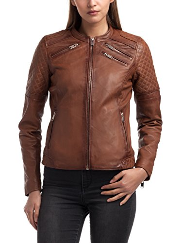 Best Mountain Lederjacke Mila Cognac L