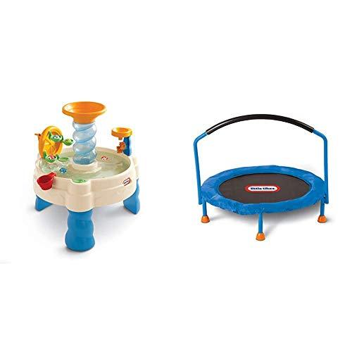 Little Tikes Spiralin' Seas Waterpark Play Table, Multicolor & 3' Trampoline – Amazon Exclusive
