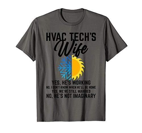 Funny HVAC Technician Gift For Women Cool HVAC Tech Wife T-Shirt