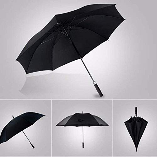 JWCN Sonnen- und Regenschirm Sonnenschirm Sonnenschirm UV-Sonnenschirm Regenschirm-Regenschirme Schwarze Verstärkung Double Men Commerce Winddichter gerader Schaft Groß, lang, 150 cm-150cm Uptodate