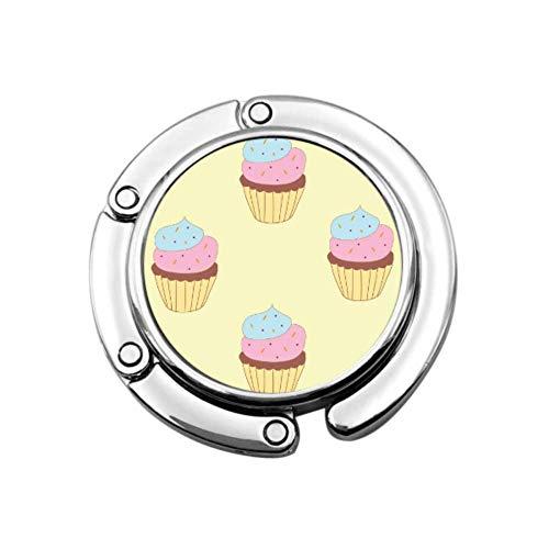 Cake Delicious Snacks Modello Portaborse Gancio Borsa Appendiabiti Gancio da tavolo Sezione pieghevole Gancio per borsa Gancio per tavolo