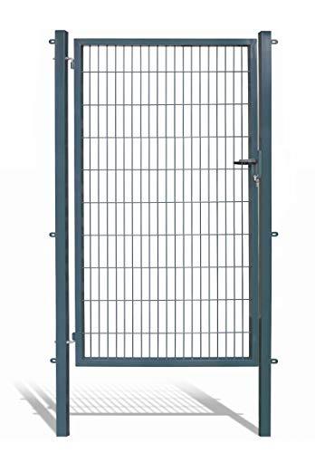 Koll Living Gartentore für Stabmattenzaun mit 120 cm Breite- Farbe und Höhe wählbar - inkl. Pfosten und Befestigungsmaterial (H 200 x B 120 cm, anthrazit)