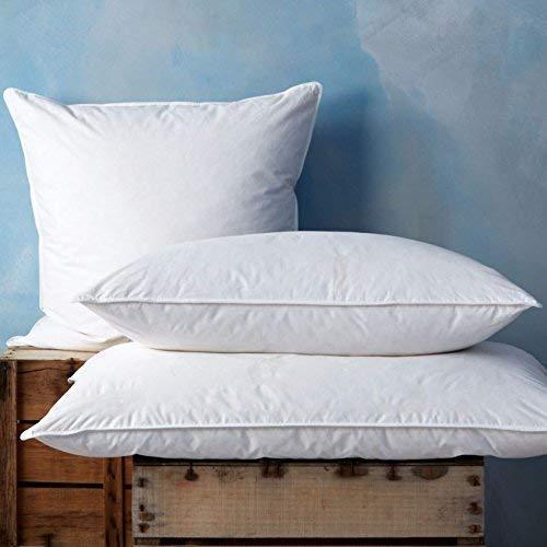 SOAK AND SLEEP Duck Feather & Down Pillow - Superking (50 x 90cm)- Soft/Medium Support