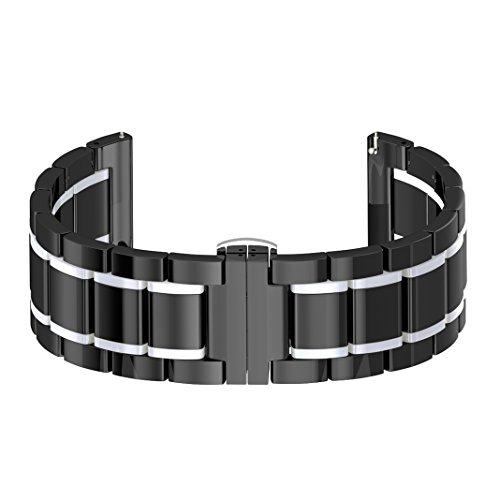 Reloj Band para Gear S3, Samsung Gear S3 Frontier Banda/Gear S3 Classic Correa, Reemplazo Pulsera Cerámica, Hombre/Muñequera de Mujer, Reloj Inteligente Banda para Samsung Gear S3 Classic Frontier