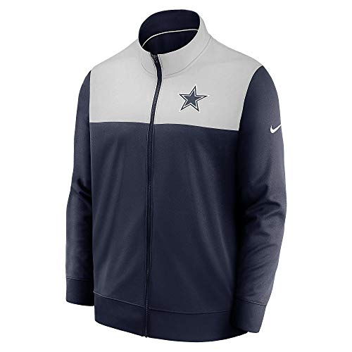 Dallas Cowboys NFL Herren Nike Logo Long Sleeve Jacke, Herren, Nike Logo Long Sleeve Jacke, Marineblau/silberfarben, Small