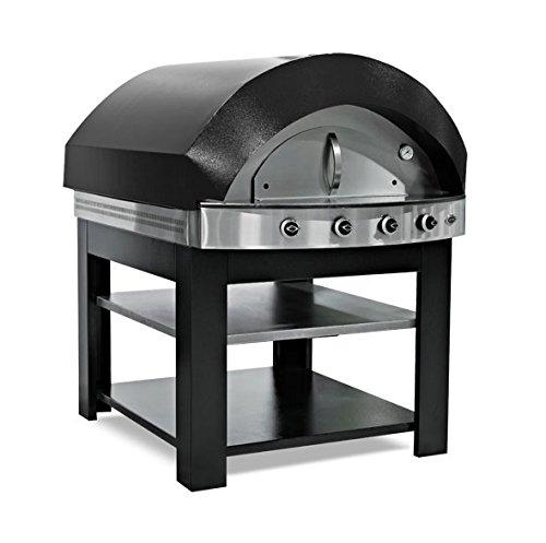 Gas Pizza Ofen - Schwarz - mit Untergestell