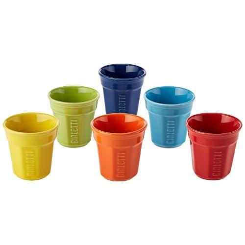 Bialetti Bicchierini Bialetti Set 6 Bicchierini Multicolor, Porcellana, Colorati, Porcellana, Multicolore