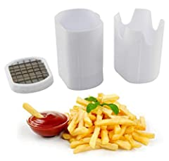 MAKE FRESH FRENCH FRIES: With the help of this french fry slice and dice device, you'll feel like you're in a restaurant. This kitchen tool will give you restaurant-quality fried potato spears from the comfort of your own home. Whether you prefer swe...