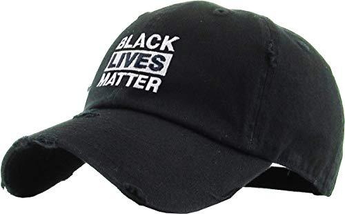KBSV-046 WHT Fist Vintage Distressed Dad Hat Baseball Cap Polo Style Adjustable