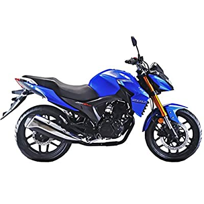 Lifan KP 200 200cc Gas Motorcycle Adult EFI Sport Motorcycle Fuel Injection 17HP Street Motorcycle Bike Fully Assembled(Blue/Silver)