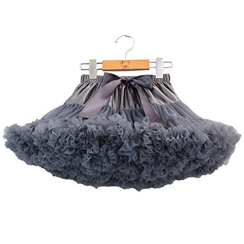 Falda de tul, de ballet o de rock, de la talla XS a la L Gris gris oscuro