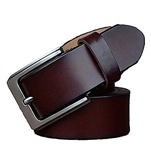KFDZSW Cinturon Hombre Cuero Cinturones Piel Jeans Cinturón Hombre Trabajo Clásico Conveniente Para Los Pantalones Vaqueros Del Traje Para Hombres (CinturóN 03,Largo 100CM)