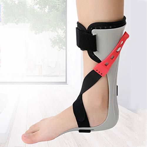JM-D Soporte para ortesis de Tobillo y pie férula de Apoyo para pie caído, Ajuste de tensión de 4 Secciones, Puede Usar Zapatos Reducir el Dolor y el Edema,Right,XL