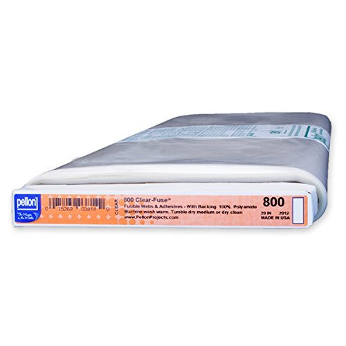 Pellon #800 Clear Fuse 100-percent Polyamide Interfacing Template 20 inches wide, 10 yard bolt