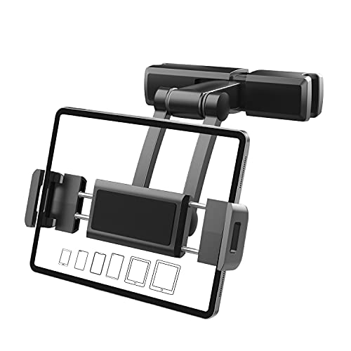 Soporte de coche para tablet iPad, reposacabezas, extensible, giratorio 360°, para iPad, Galaxy Tab, Huawei, Mediapad, Nintendo Switch
