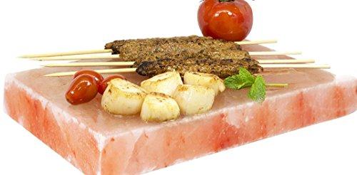 SalNatural Salz GRILLSTEIN 20x20x4 cm Ideal FÜR Grill Fleisch Fisch Eier Grillplatte Servierplatte Himalayan* Direkt Anbieter von Pakistan