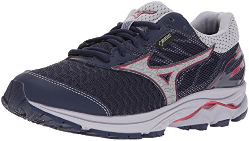 Mizuno Women's Wave Rider 21 GTX Running Shoe Athletic Shoe, eclipse/silver, 6.5 B US
