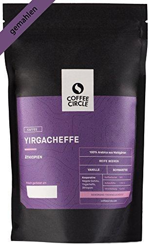 Coffee Circle | Premium Kaffee Yirgacheffe | 350g gemahlen | Fruchtiger Filterkaffee aus äthiopischen Waldgärten | 100% Arabica | fair & direkt gehandelt | frisch & schonend geröstet