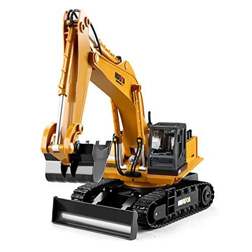 Hging Remote Control Bagger Spielzeug 1/14 Skalenbagger, 15-Kanal-Upgrade Volle funktionale Baufahrzeuge...