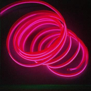 ZSSGSHR Decoración 1M Interior del Coche llevó la Tira Flexible de luz de neón Garland Lisence Placa Alambre Tubo de la Cuerda Línea con Controlador USB Bricolaje Automotriz Decorativa
