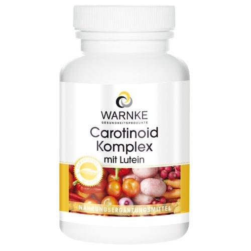 Carotinoid Komplex - Lutein + Zeaxanthin + Beta-Carotin + Lycopin - 250 Kapseln - Großpackung