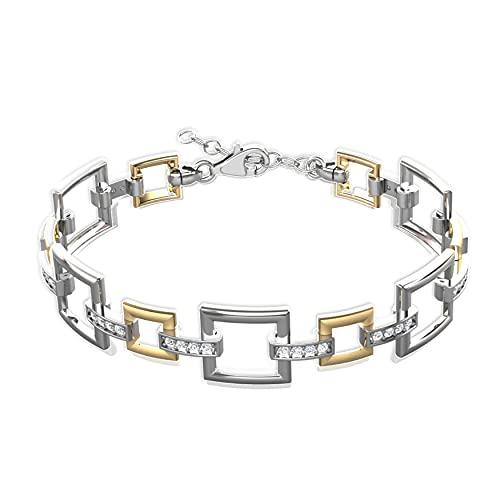 LillyMarie Mujer Pulsera de Plata Plateado Elementos Swarovski oro Bonitos Regalos Para Mujeres