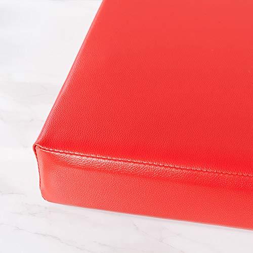 MOTT Cojín extra largo para banco de 3/4 plazas, colchón de espuma de alta densidad, funda de cuero desmontable, base antideslizante, 100 x 35 cm