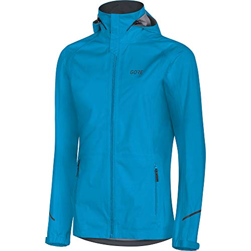 GORE WEAR Damen wasserdichte Kapuzen-Laufjacke, R3 Women Gore-TEX Active Hooded, 36, 100071 Kapuzenjacke, Dynamic Cyan