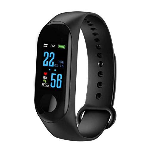MPLMM Smart Armband Gesundheitsüberwachung Bluetooth Anruf Sport Schrittzähler Multifunktionsuhr Schwarz Black