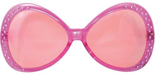 Folat Party-Brille mit pinkem Rahmen und Glitzersteinen besetzt