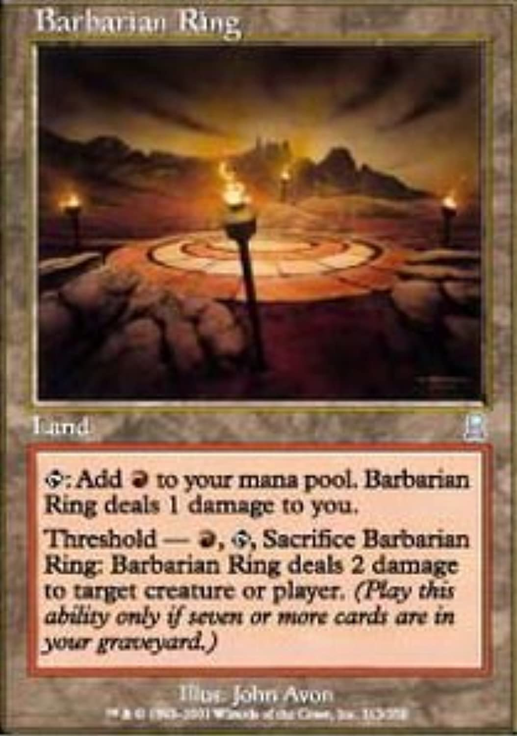 Magic  the Gathering - Barbarian Ring - Odyssey - Foil