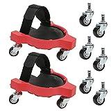 Enredadera ergonómica, rodilleras multifunción con ruedas para instalar azulejos y tapetes de trabajo de jardinería, proteja su rodilla