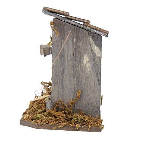 Yisentno Casa de gallina en Miniatura Duradera, Accesorio de casa de muñecas Exquisito gallinero de casa de muñecas, Regalo para niños Regalo para niños pequeños para casa de muñecas 1/12 Accesorio