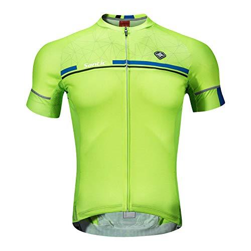 Santic Short Sleeve Indoor Cycling Jerseys For Men