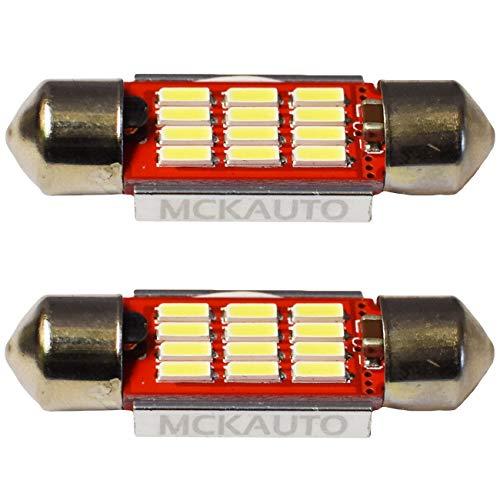 MCK Auto - Reemplazo para LED CanBus de 36 mm Conjunto de bombillas blancas muy claras y sin errores compatibles con la Serie 3