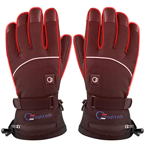 OUTCOOL Heated Gloves for Men Women Touchscreen Electric Heated Ski Gloves (X-Large)