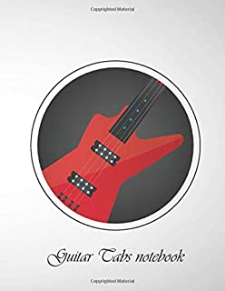Guitar Tabs notebook: 6 String Guitar Chord and Tablature Staff Music Paper for Guitar Players, beginner kids, Musicians, ...