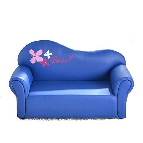 YINGGEXU Silla de comedor Living room chair cojines, sofá de los niños, los niños Silla reposabrazos del sofá, tapizado de muebles for la sala, Salón Cama rosa for Relajante juego Lounging (Color: azu