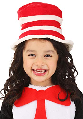 Dr. Seuss Cat in The Hat Costume Fleece Hat for Toddlers Red