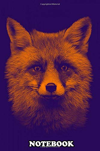 """Notebook: The Fox Potrait Poster , Journal for Writing, College Ruled Size 6"""" x 9"""", 110 Pages"""