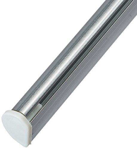 Tilldekor Beschwerungsleiste aus Aluminium für Flächenvorhänge, silber, mit patentierter Klemmtechnik, 60 cm